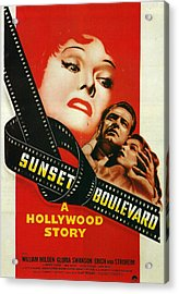 Sunset Boulevard Acrylic Print by Georgia Fowler