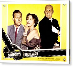 Sunset Boulevard, William Holden Acrylic Print
