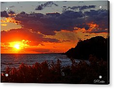 Acrylic Print featuring the photograph Sunset By The Beach by Davandra Cribbie