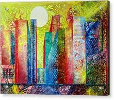 Sunset City Acrylic Print