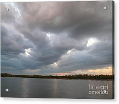 Sunset Clouds Acrylic Print by Alisa Tek