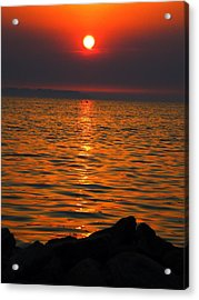 Acrylic Print featuring the photograph Sunset by Colette V Hera  Guggenheim