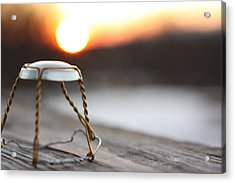 Sunset Cork Cage Acrylic Print by Robert Rizzolo