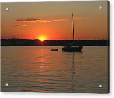 Acrylic Print featuring the photograph Sunset Cove by Clara Sue Beym