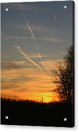 Sunset Cross Acrylic Print