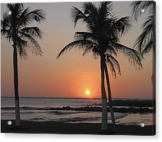 Acrylic Print featuring the photograph Sunset by David Gleeson