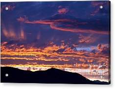 Sunset Acrylic Print by David R Frazier and Photo Researchers