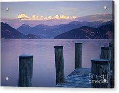 Sunset Dock Acrylic Print by Brian Jannsen