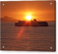 Acrylic Print featuring the photograph Sunset by Eunice Gibb