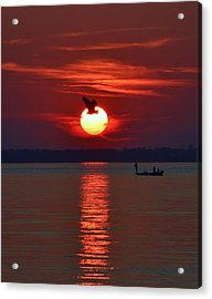 Sunset Fishing Acrylic Print