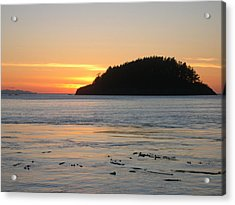 Sunset From Deception Pass Acrylic Print by Cheryl Perin