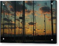 Sunset Harbor Acrylic Print by Rafael Figueroa