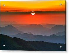Sunset In Balkans Acrylic Print
