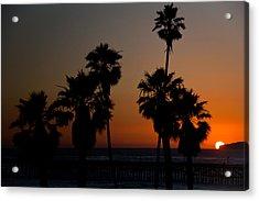 sunset in Califiornia Acrylic Print by Ralf Kaiser
