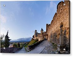 Sunset In Carcassonne Acrylic Print by Robert Lacy