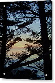 Sunset In Carmel Acrylic Print by Christine Drake