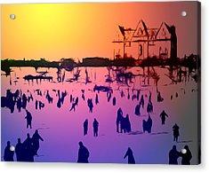 Sunset In Central Park Acrylic Print by Steve K