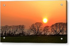 Acrylic Print featuring the photograph Sunset In Dingle by Barbara Walsh