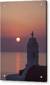 sunset in Greece Acrylic Print
