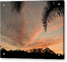 Sunset In Lace Acrylic Print