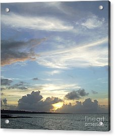 Sunset In Majuro Acrylic Print by Andrea Anderegg