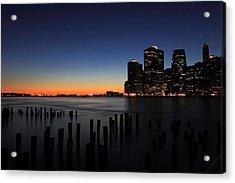 Sunset In Manhattan Acrylic Print by Kean Poh Chua