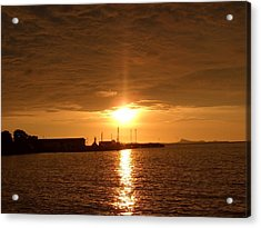 Sunset In Merak Acrylic Print