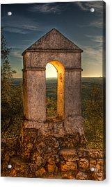 Sunset In Monfrague Castle Acrylic Print