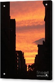 Sunset In Nyc Acrylic Print by Elizabeth Fontaine-Barr
