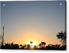 Sunset In Paradise Acrylic Print by Nicholas Lowcock