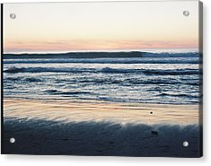 Sunset In Sand Acrylic Print by Trent Mallett