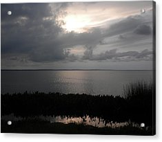 Sunset In Silver Acrylic Print by Erica Breetz