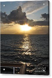 Sunset In The Black Sea Acrylic Print by Phyllis Kaltenbach