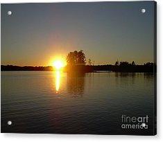 Sunset Juggler Lake Island Acrylic Print