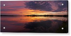 Sunset Lake Nakamun Acrylic Print