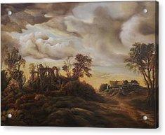 Sunset Landscape Acrylic Print by Dan Scurtu