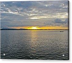 Sunset Landscape Acrylic Print by Nawarat Namphon