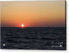 Acrylic Print featuring the photograph Sunset by Leslie Leda