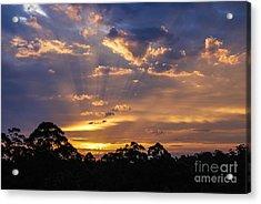 Sunset Lightstreams 1 Acrylic Print