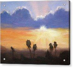 Sunset Acrylic Print by Lori Quarton