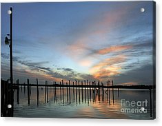 Acrylic Print featuring the photograph sunset marina Everglades by Dan Friend