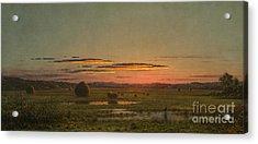 Sunset Acrylic Print by Martin Johnson Heade