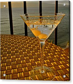 Sunset Martini In Maui I Acrylic Print by Kirsten Giving