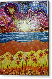 Sunset Acrylic Print by Mike Stair