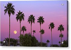 Sunset Moon Acrylic Print
