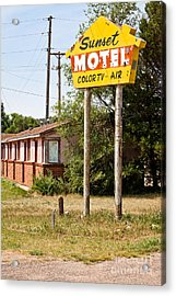 Sunset Motel Acrylic Print