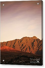 Sunset Mountain 2 Acrylic Print by Pixel Chimp