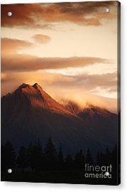 Sunset Mountain Acrylic Print