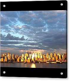 Sunset New York City Acrylic Print