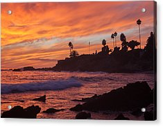 Sunset Off Laguna Beach Acrylic Print by Cliff Wassmann
